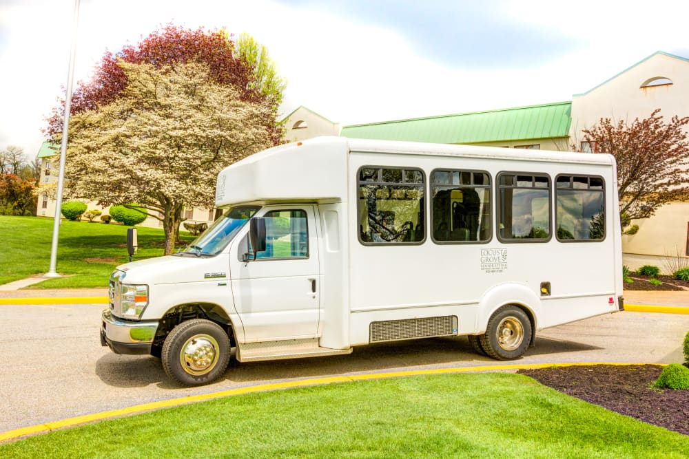 Shuttle bus service for residents at Locust Grove Personal Care & Memory Care in West Mifflin, Pennsylvania