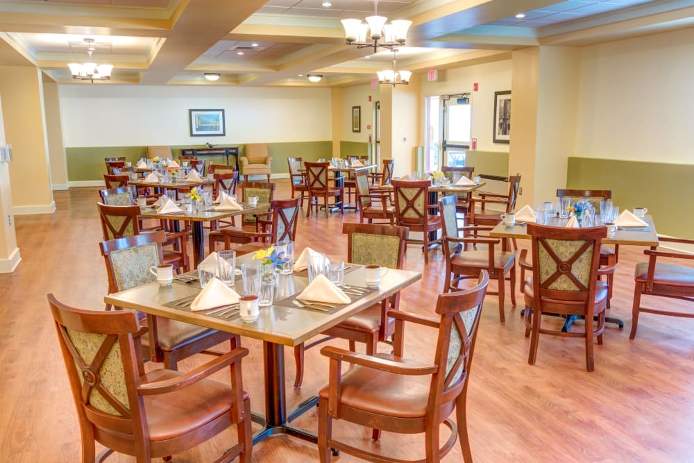 Dining hall at Locust Grove Personal Care & Memory Care in West Mifflin, Pennsylvania