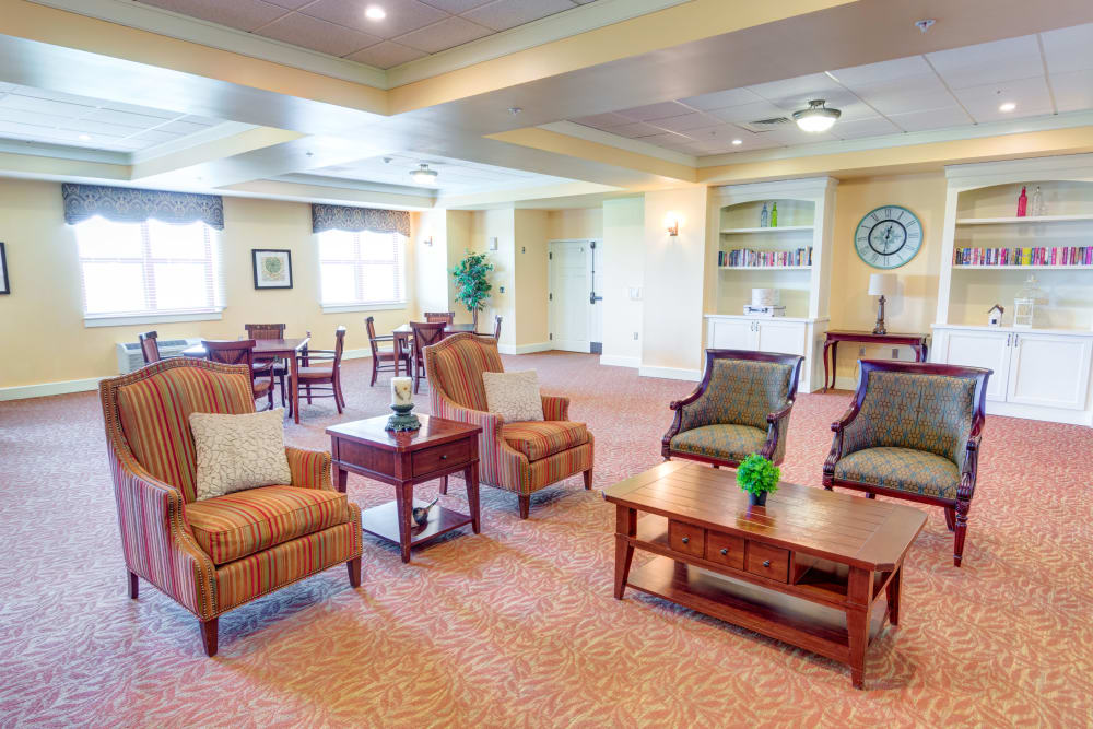 Sitting are at Locust Grove Personal Care & Memory Care in West Mifflin, Pennsylvania