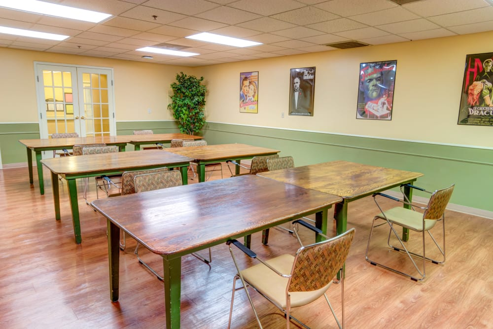 Activity room at Locust Grove Personal Care & Memory Care in West Mifflin, Pennsylvania