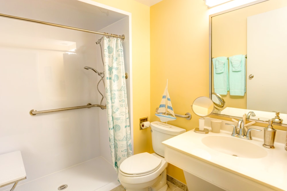 Private bath at Locust Grove Personal Care & Memory Care in West Mifflin, Pennsylvania