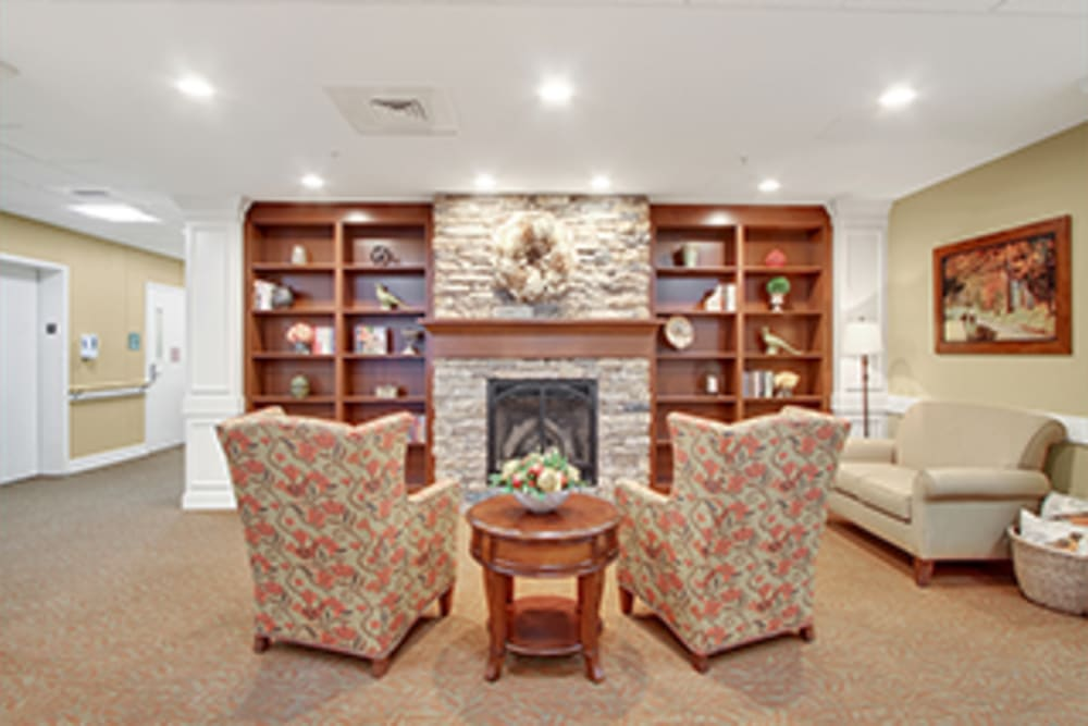Comfortable seating areas at The Haven at Springwood in York, Pennsylvania