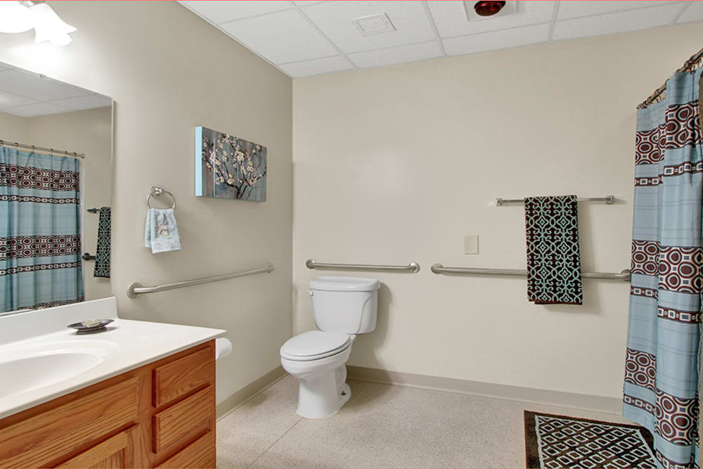 Private bathrooms at The Haven at Springwood in York, Pennsylvania