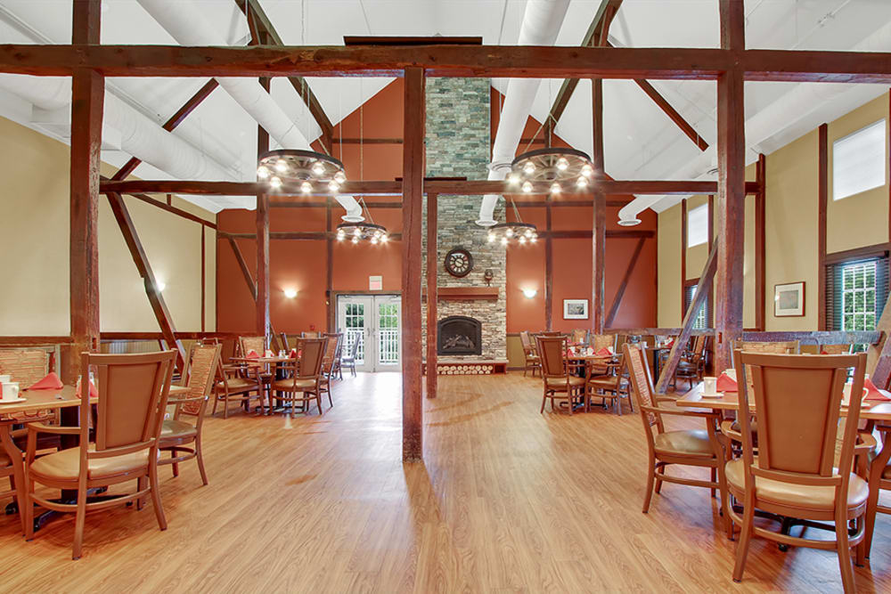 The main dining room at The Haven at Springwood in York, Pennsylvania