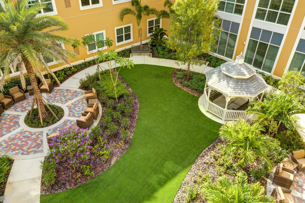Courtyard at Symphony at Delray Beach in Delray Beach, Florida.