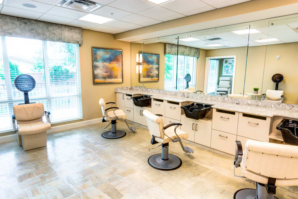 Onsite salon at Symphony at Delray Beach in Delray Beach, Florida.