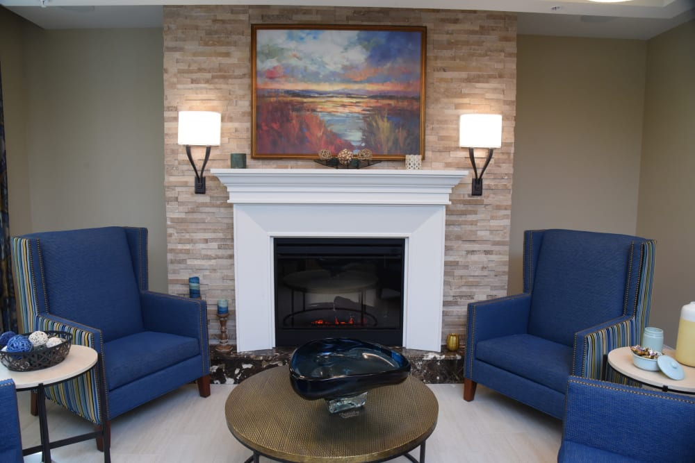 Sitting area at Symphony at Cherry Hill in Cherry Hill, New Jersey.
