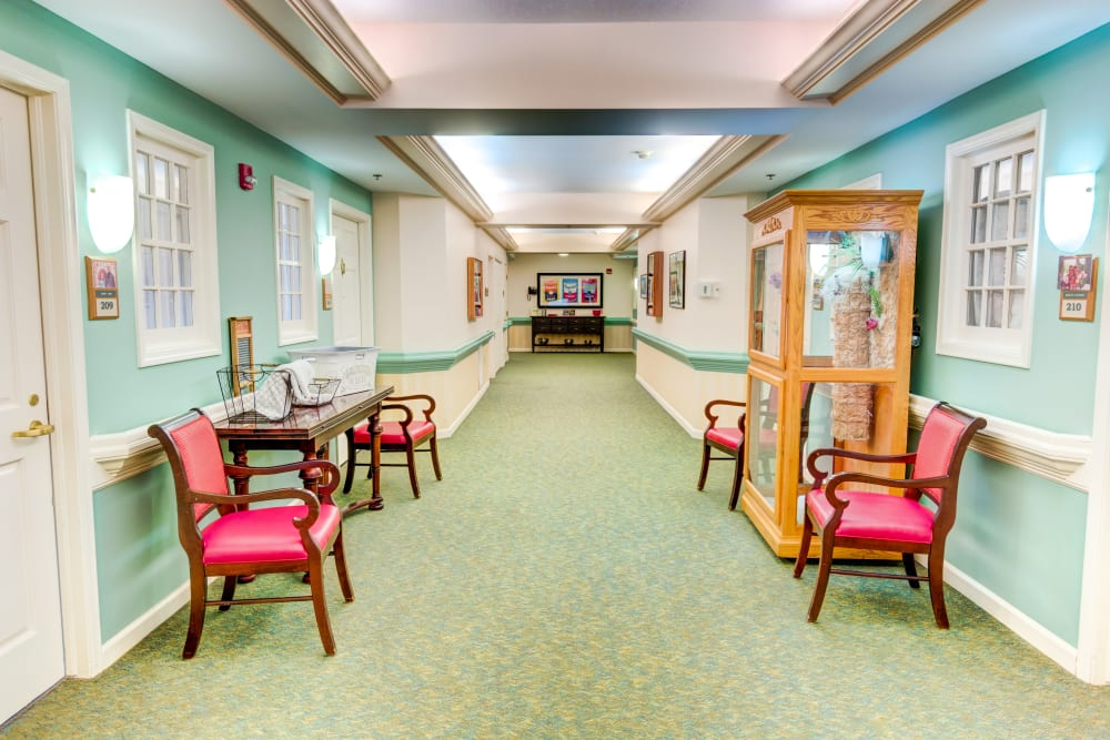 Hallway at Symphony at Mentor in Mentor, Ohio
