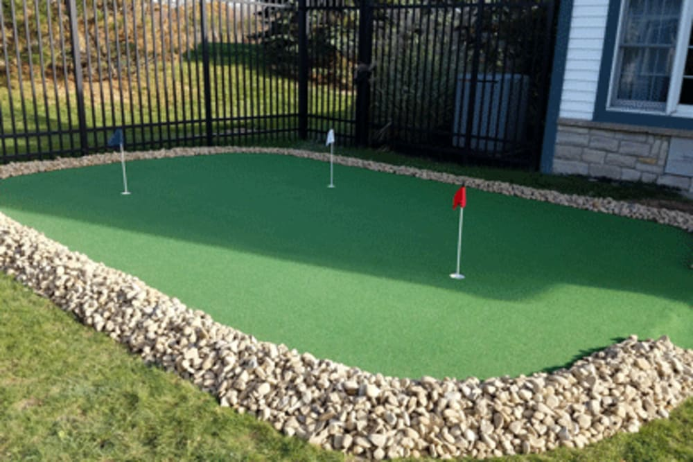 Mini golf area at Symphony at Mentor in Mentor, Ohio