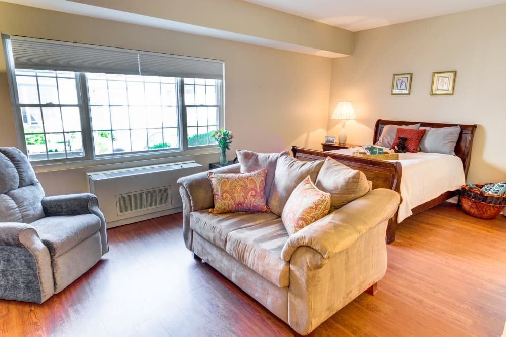 studio living space at Symphony at Mentor in Mentor, Ohio