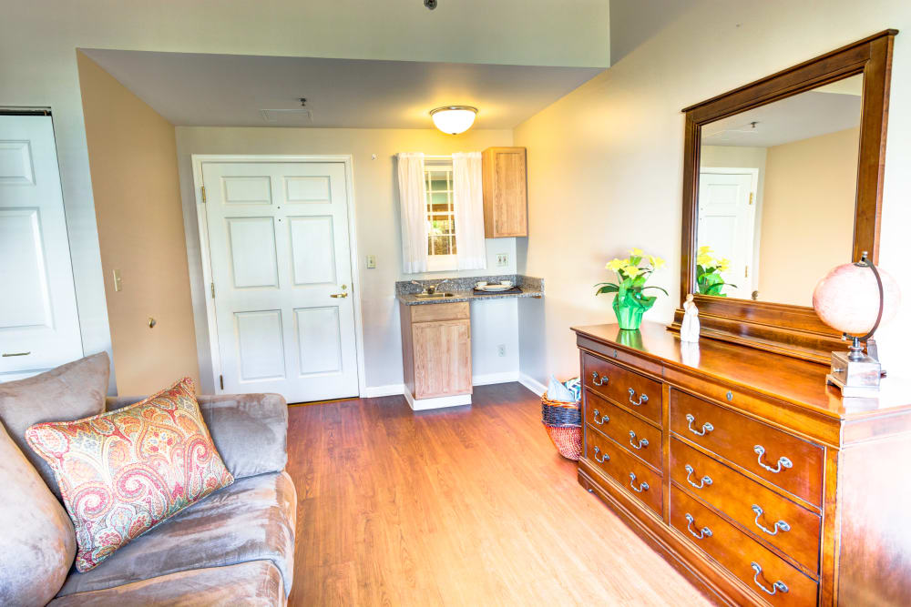 Private home with hardwood flooring at Symphony at Mentor in Mentor, Ohio