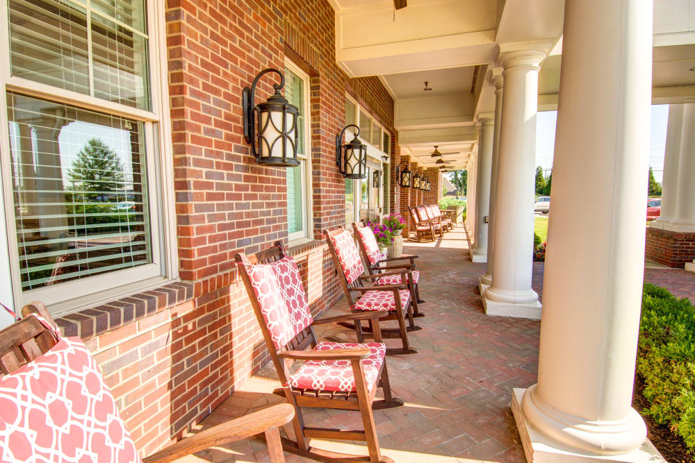 Model front porch at Symphony at Oaklawn in Louisville, Kentucky