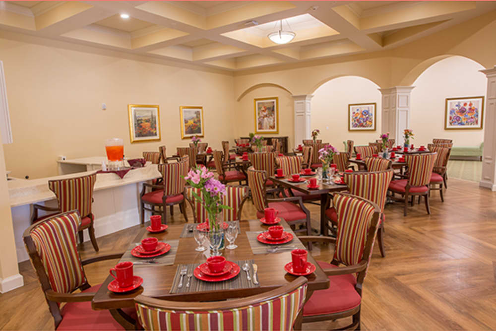 Dining room at Symphony at St. Augustine in St. Augustine, Florida.