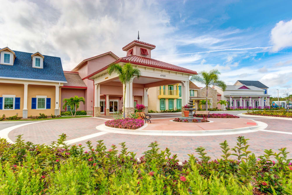 Main entrance at Symphony at Stuart in Stuart, Florida.