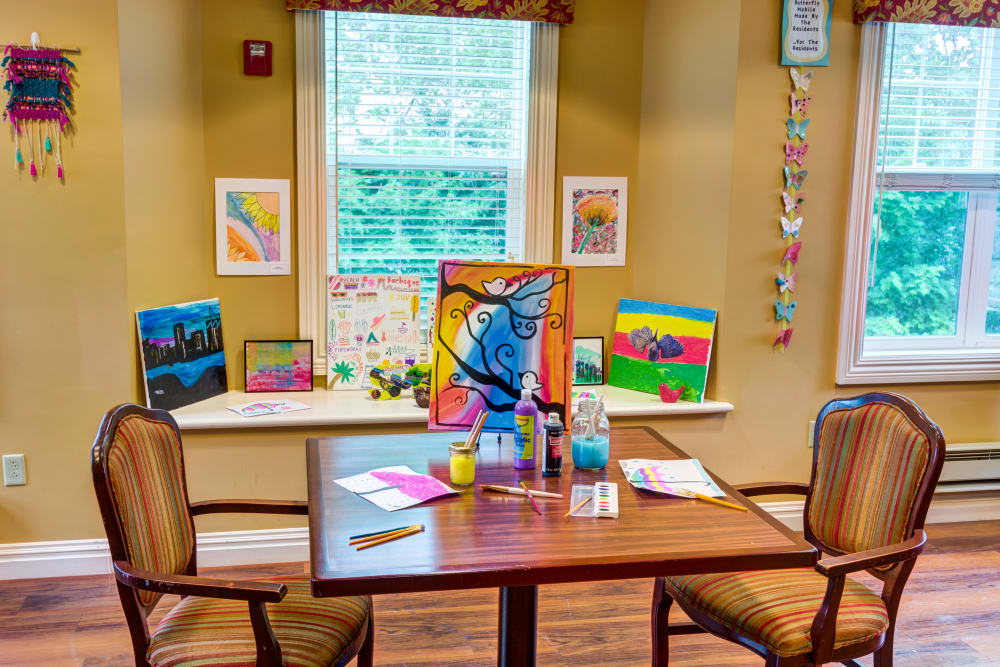 Art and activity room at Baltimore, Maryland