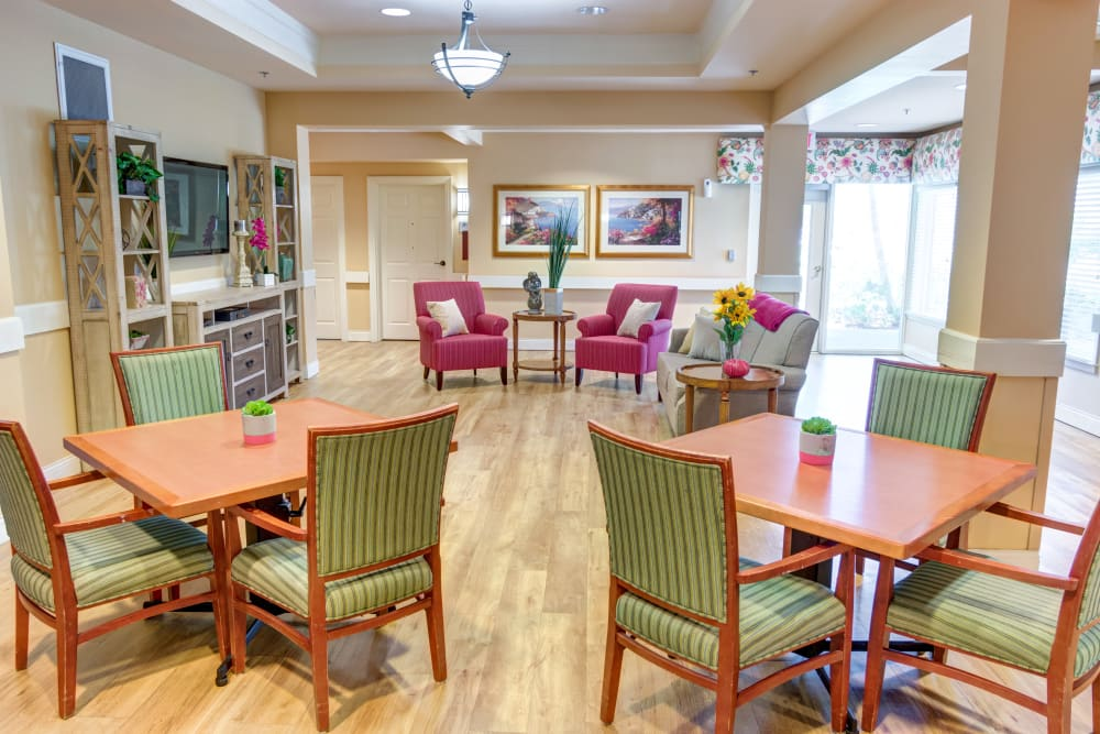 Bistro at The Lynmoore at Lawnwood Assisted Living and Memory Care in Fort Pierce, Florida.