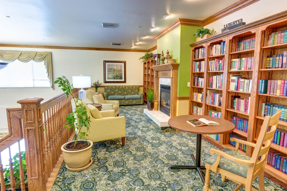 Community library at The Wentworth at East Millcreek in Salt Lake City, Utah