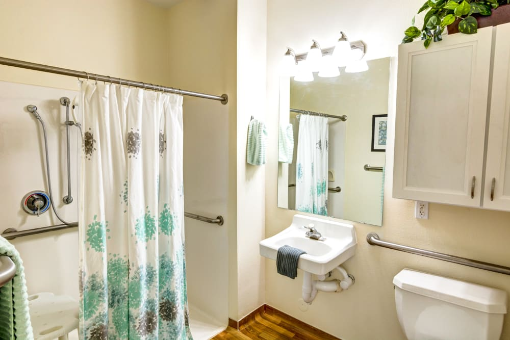 bathroom in an apartment at The Wentworth at East Millcreek in Salt Lake City, Utah