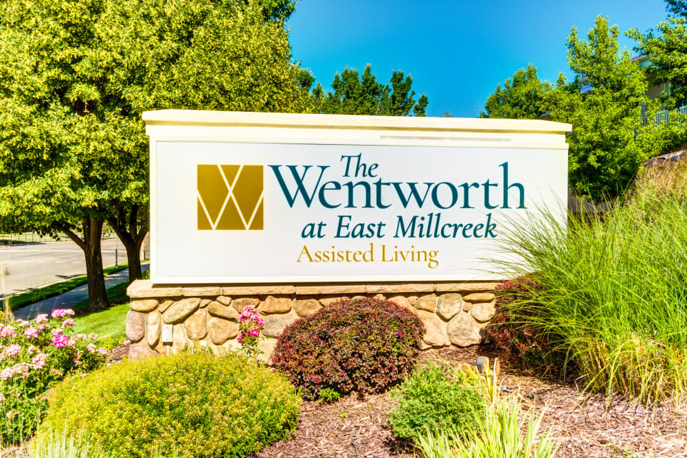 signage at The Wentworth at East Millcreek in Salt Lake City, Utah