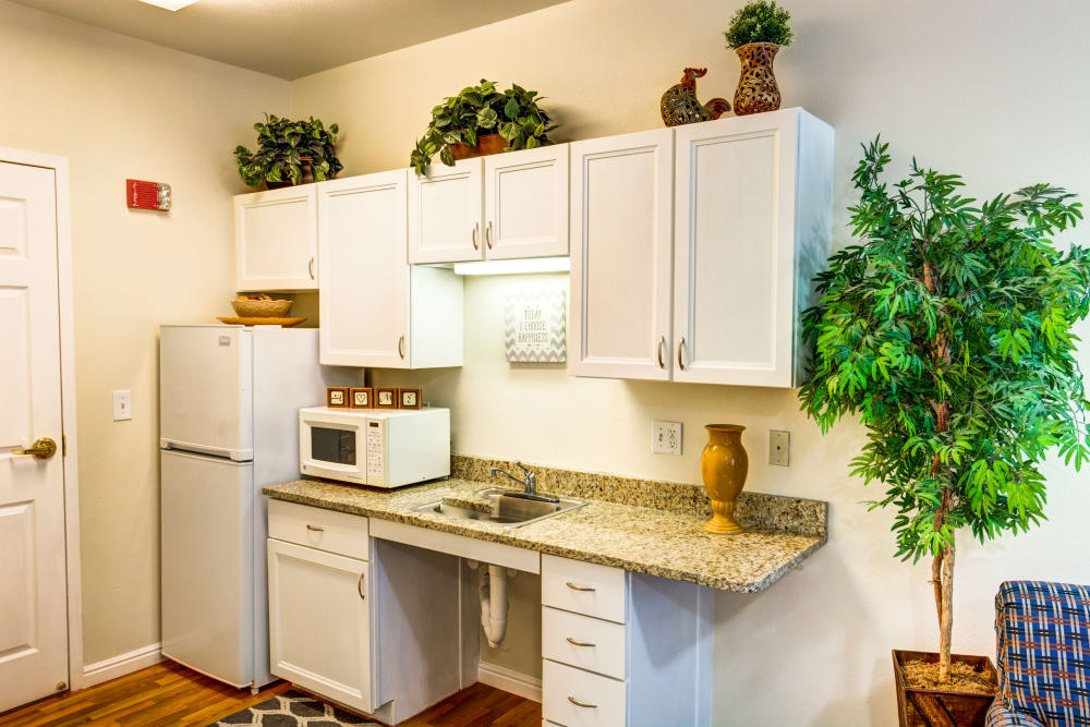 Kitchen in an apartment home at The Wentworth at East Millcreek in Salt Lake City, Utah