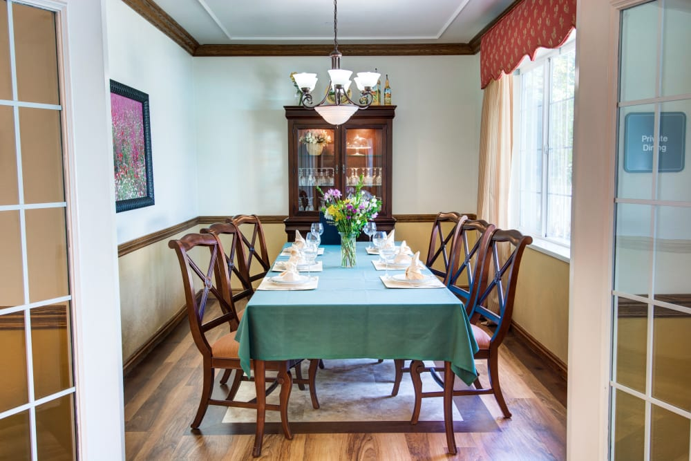 The Wentworth at East Millcreek in Salt Lake City, Utah private dining room