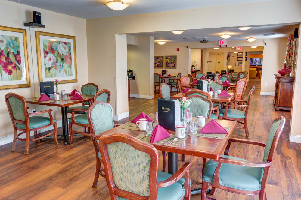 Common area at The Villas at Sunset Bay in New Port Richey, Florida.