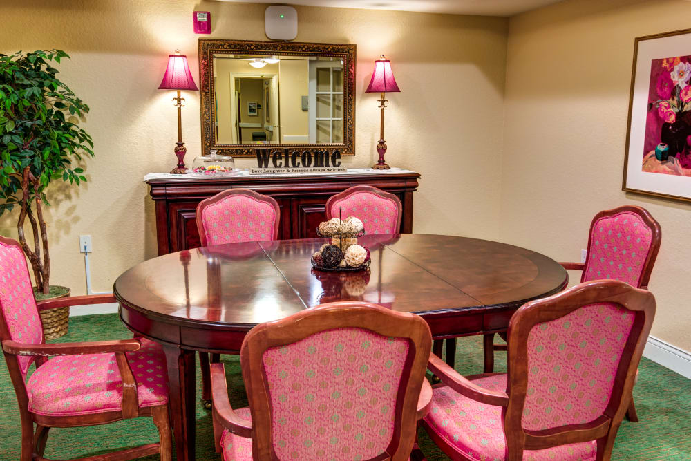 Private Dining Room at The Villas at Sunset Bay in New Port Richey, Florida