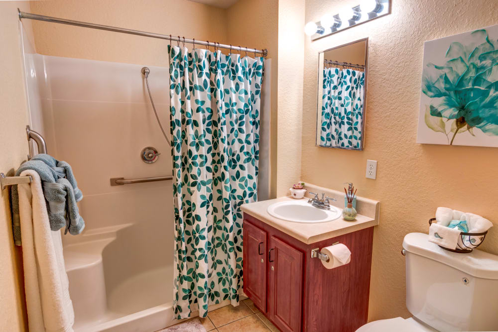 Bathroom at The Villas at Sunset Bay in New Port Richey, Florida.