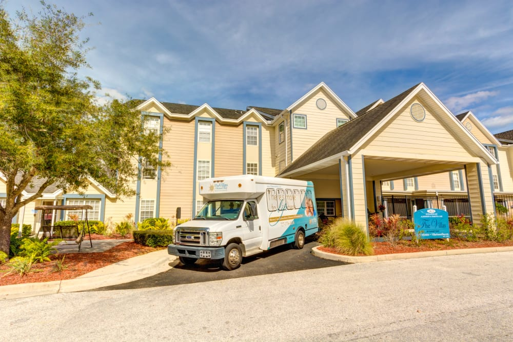 Transportation van for The Villas at Sunset Bay in New Port Richey, Florida.