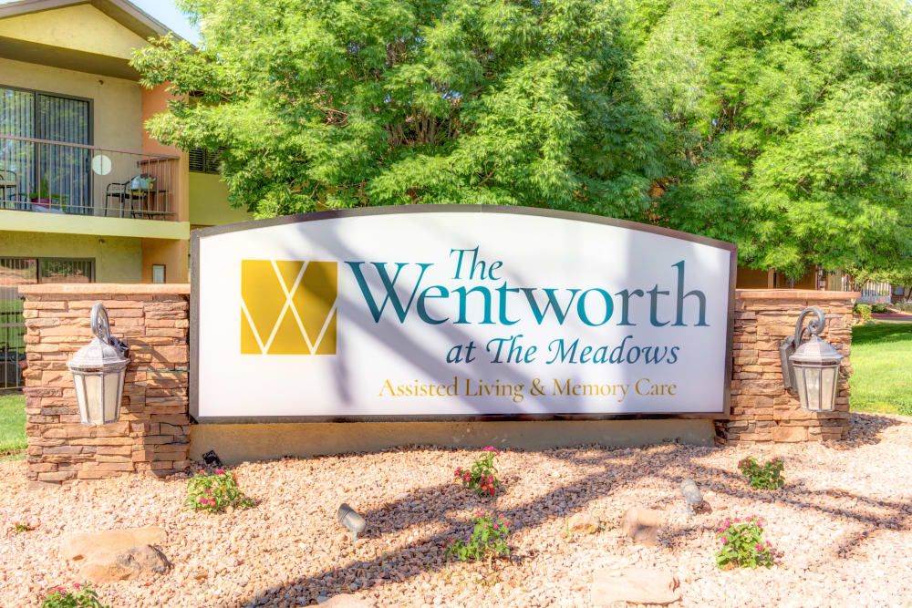 Signage at The Wentworth at the Meadows in Saint George, Utah