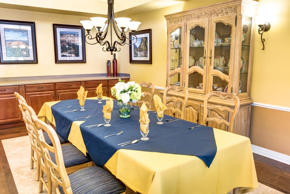 The Wentworth at the Meadows in Saint George, Utah private dining room