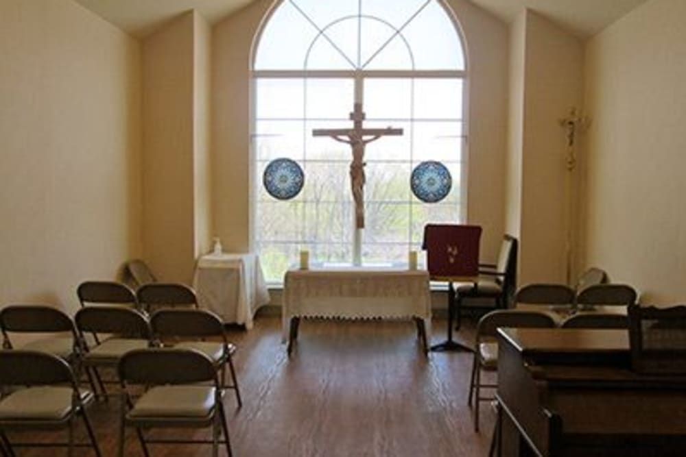 The chapel at Tranquillity at Fredericktowne in Frederick, Maryland