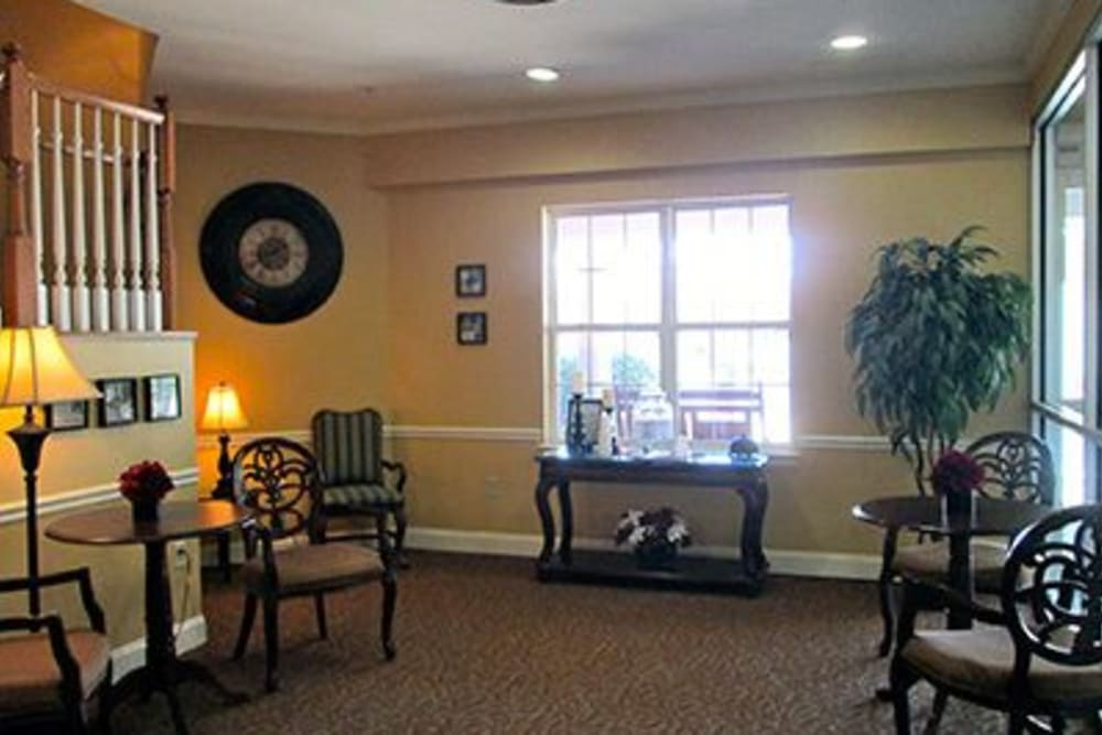 Lobby area at Tranquillity at Fredericktowne in Frederick, Maryland