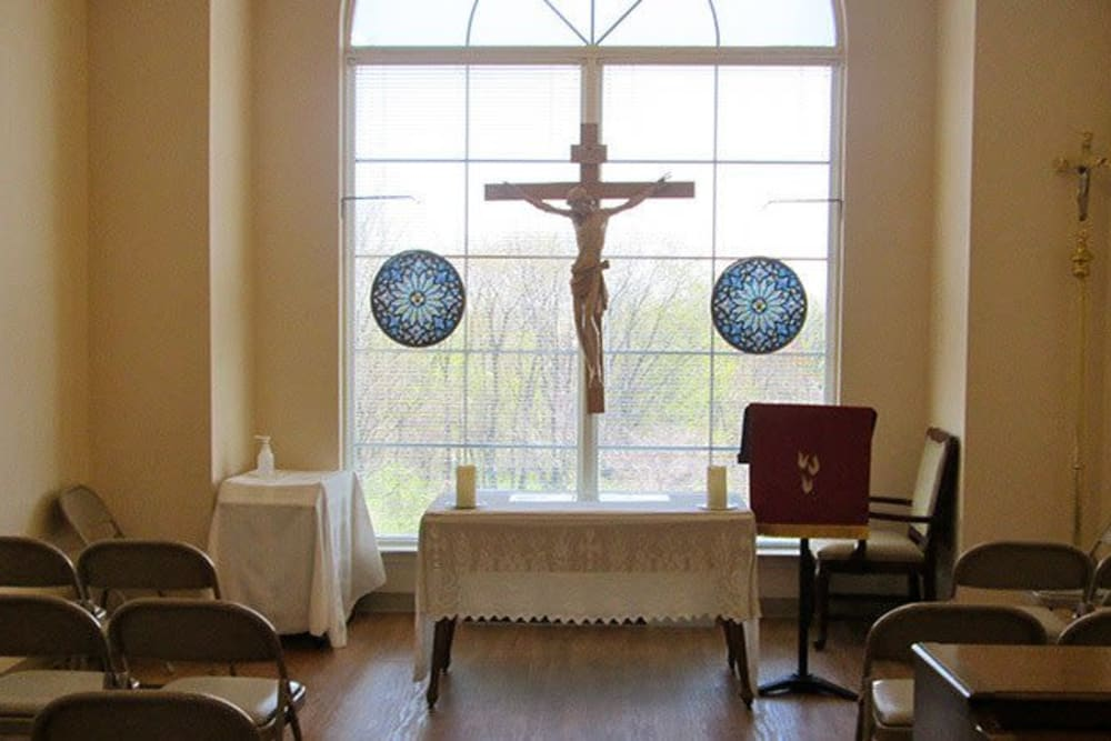 On-site chapel at Tranquillity at Fredericktowne in Frederick, Maryland