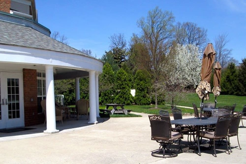 Patio at Tranquillity at Fredericktowne in Frederick, Maryland