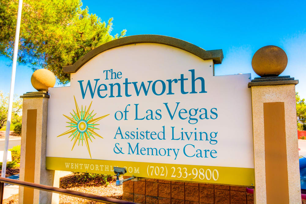 Signage at The Wentworth of Las Vegas in Las Vegas, Nevada