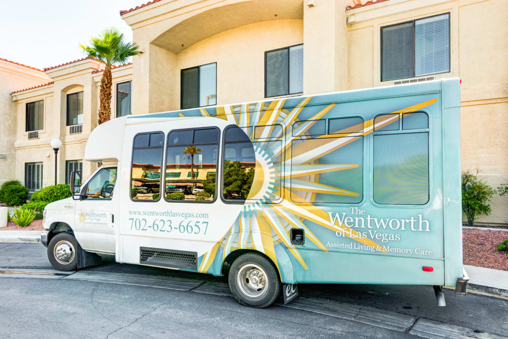 Transport bus at The Wentworth of Las Vegas in Las Vegas, Nevada