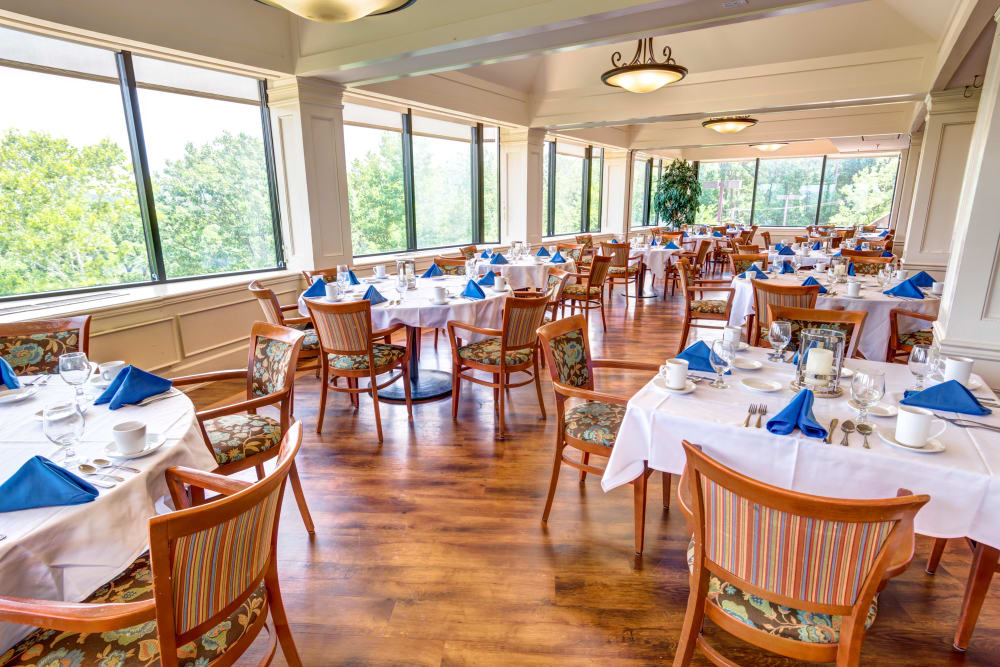 Community dining area at Woodland Heights in Little Rock, Arkansas