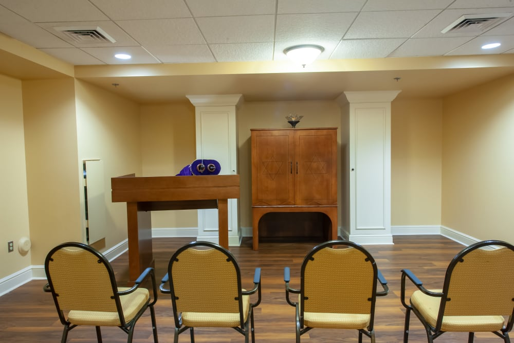 Event area at Woodholme Gardens in Pikesville, Maryland