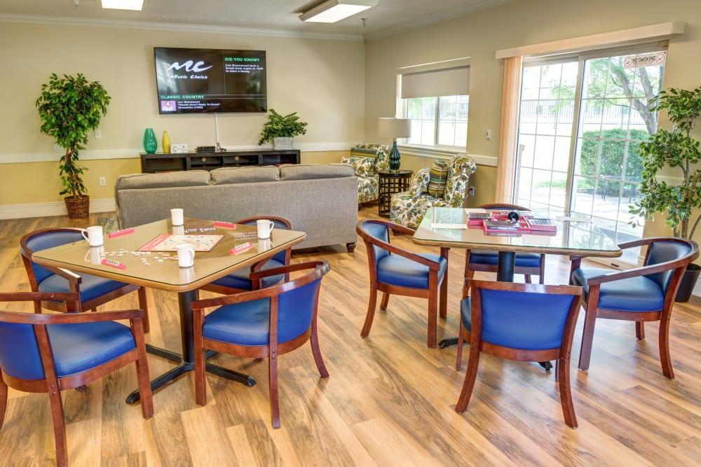 Dining area at The Wentworth at Draper in Draper, Utah