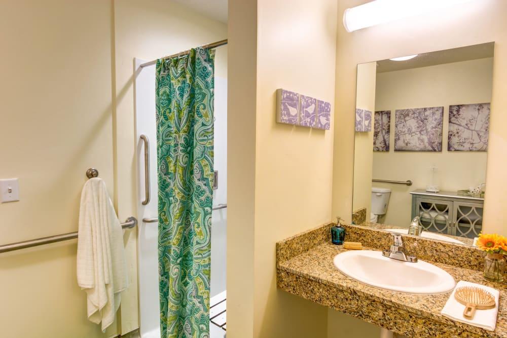 Spacious private bath at The Wentworth at Draper in Draper, Utah