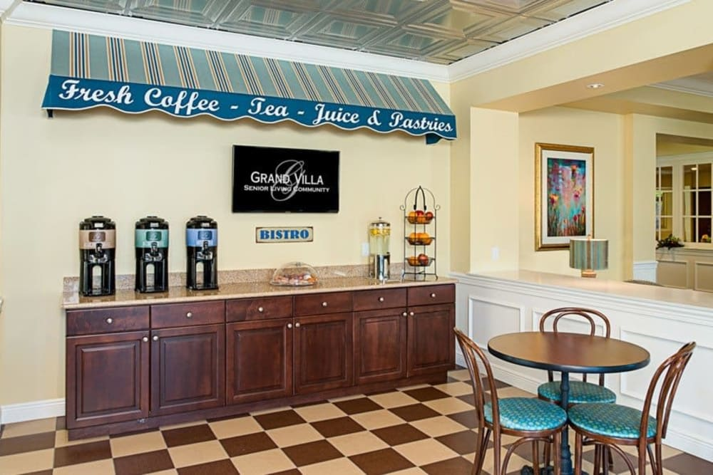 Complimentary coffee and tea at Grand Villa of St. Petersburg in Florida
