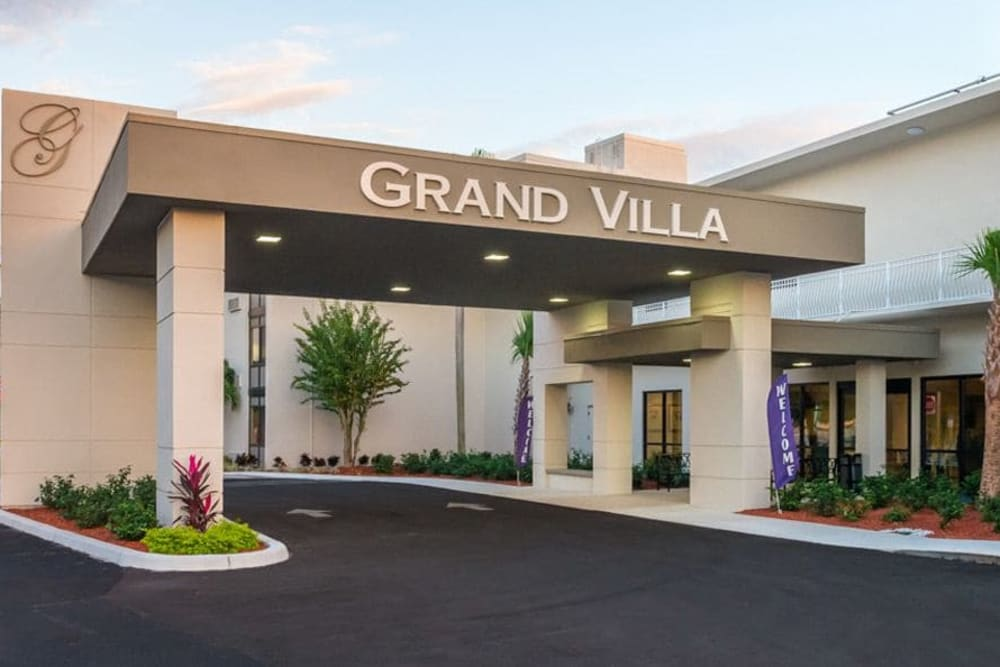 Main entrance at Grand Villa of St. Petersburg in St. Petersburg, Florida