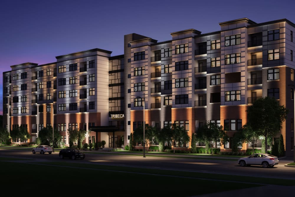 Rendering of Tribeca's exterior in Saint Louis, Missouri