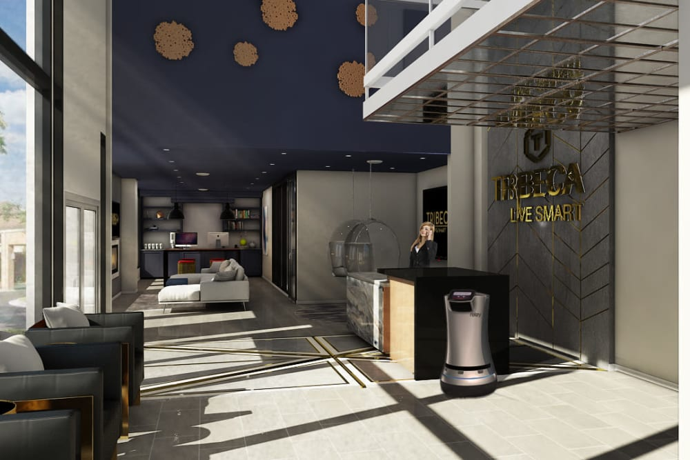 Rendering of Tribeca's lobby in Saint Louis, Missouri