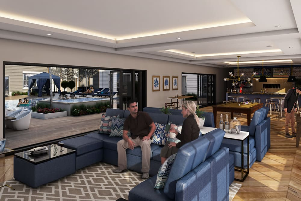 Rendering of Tribeca's clubhouse in Saint Louis, Missouri
