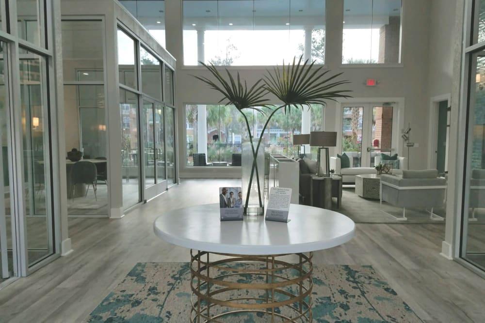 Beautiful entryway to the community lounge at Ingleside Plantation Apartments in North Charleston, South Carolina
