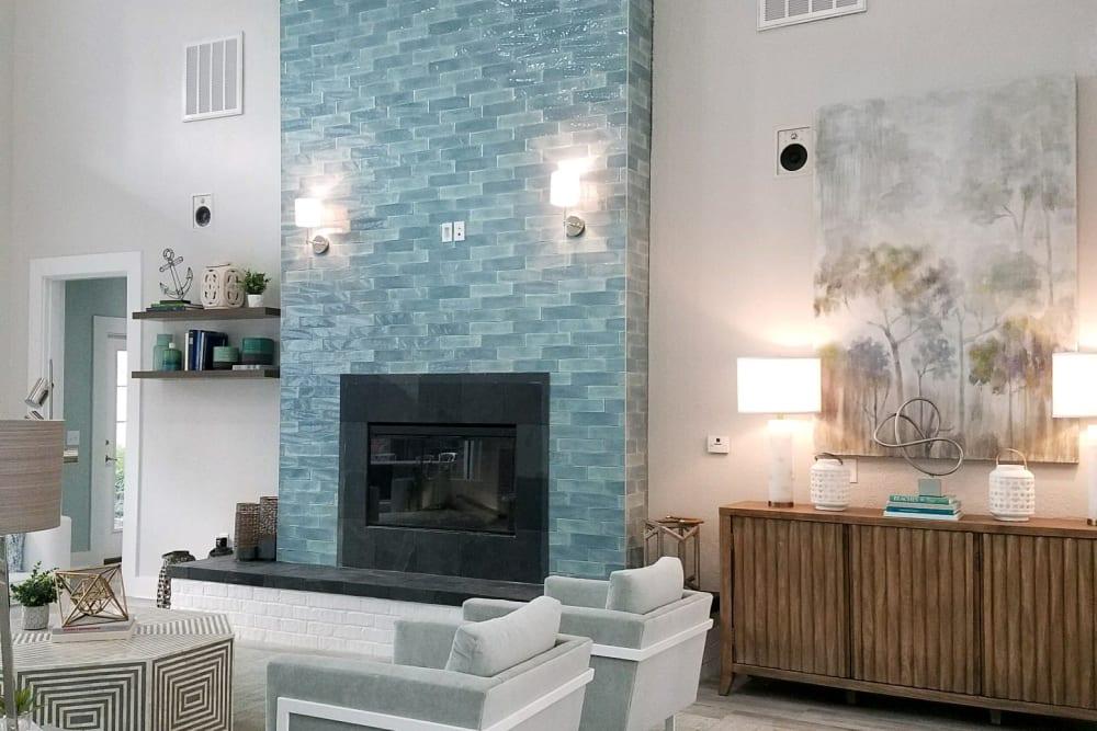 Community fireplace at Ingleside Plantation Apartments in North Charleston, South Carolina