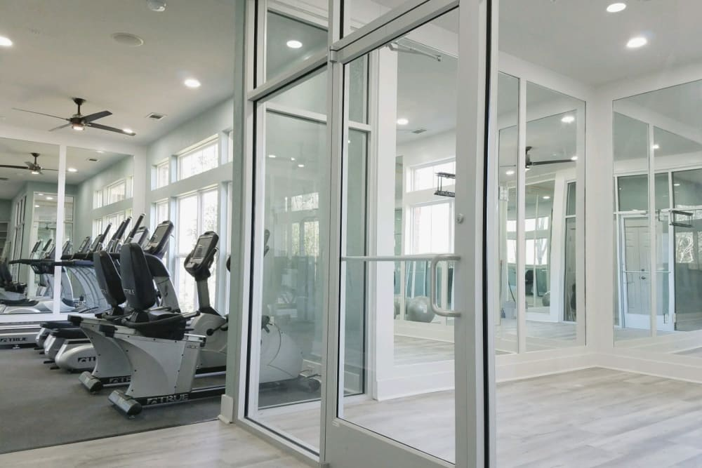 Fitness equipment at Ingleside Plantation Apartments in North Charleston, South Carolina