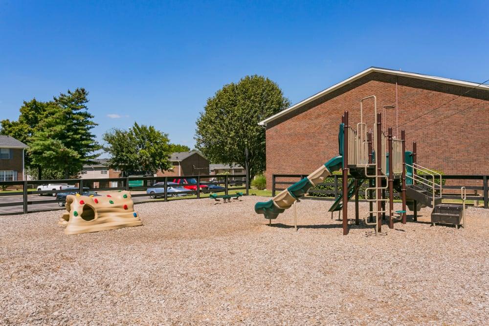 Playground area at Audubon Park in Nashville, Tennessee